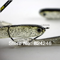 Wholesale 20pcs soft rubber fishing lure fishing shad bait soft worm lure soft artifical loach lure baits