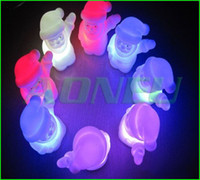 Wholesale 2012 New Arrival Christmas Decoration Xmas Gift Santa Claus Flashing LED Light Color Changeable lamp toy items