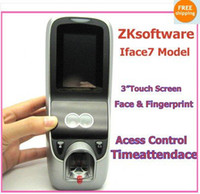 Wholesale Brand ZKsoftware quot Touch Screen Face Fingprint Time Attendance Access Control i7
