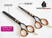 Wholesale Promotion inch Black Color Barber Scissors Set Razor Thinning Scissors with a Case C Quality Professional Hair Scissors