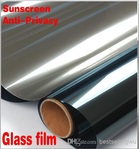 Home Decor Mirror Silver Unidirectional Sunscreen Window Film Auto Glass Protective Film