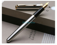 Fountain Pen fountain pens - PARKER SONNET Series All Steel Cover Golden Clip Fountain Pen
