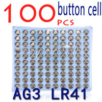 Wholesale 100pcs LR41 AG3 SR41W GP192A LR736 Button Watch Battery Cell Cion Batteries
