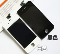 For Apple iPhone   Wholesale - Black and white Glass Touch Screen Digitizer & LCD Assembly Replacement For iPhone 5 & Freeshipping