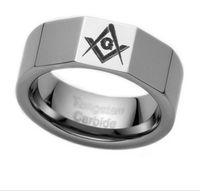 Wholesale Hot sale MM MM MM tungsten Masonic ring tungsten Wedding ring price