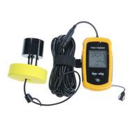 Wholesale Portable Wireless Sonar Fish Finder Depth Underwater Fishing Camera Sounder Alarm Transducer Fishfinder m No5 Battery khz