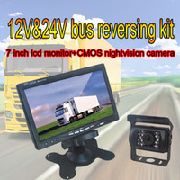 Wholesale hot inch reversing kit with CMOS car rearview camera and m extension cable special design for bus truck caravan