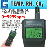 Wholesale A0177535 Digital in Carbon Dioxide CO2 Meter ppm Temperature Humidity RH DP WBT IAQ Monitor