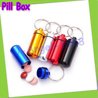 drugs - 10pcs Aluminum Pill Box Case Bottle Cache Drug Holder Keychain Container Waterproof