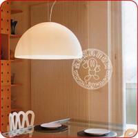 acrylic awards - Jia Jia Lighting milky white minimalist Italian restaurant Golden Compass Award ATOLLO semicircle acrylic chandelier chandelier