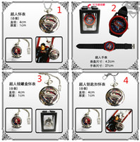Wholesale Cpatain America Superman Spiderman Star wars Watches Keychain necklace watches pocket watch