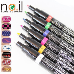 Wholesale Beauty gal nail art pen DIY drawing pen Painting Design Tool colors to Choose Drawing Gel Made Easy for new