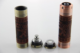 Wholesale wooden battery electronic cigarette wood e cig mod wood battery VAN CROOT wooden battery updated from e fire x fire battery
