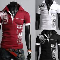 Men 100% Cotton Dark Red Hotsale Turn-down collar Mens T-Shirt short Sleeve polo shirt slim brand Tshirts Freeshipping W49 smileseller