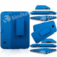 For Samsung PC For Christmas FREE DHL Fedex Full Body Case Cover Back   Front PC Protector with Clip Mixed Colors Antiskid Straight Line for Samsung Galaxy S5