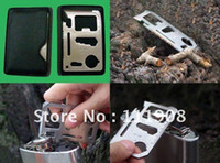 Daggers Zhejiang China (Mainland) DGNKD12002 Free Shipping,multipurpose Stainless steel credit card knife,bottle opener pocket knife,multi knife,Hunting Survival Kit