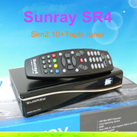 Wholesale Newest Sunray SR4 hd SE in tuner T C S S Triple tuner wifi SIM2 Sunray4 HD se