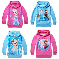 Frozen Girls Hoodies baby Cartoon Frozen Princess clothing c...