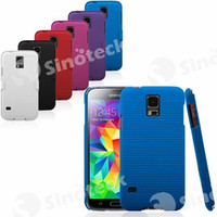 For Samsung PC For Christmas Back   Front PC Protector with Clip Mixed Colors Full Body Case Cover Antiskid Straight Line for Samsung Galaxy S5 FREE DHL Fedex Factory