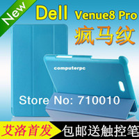 Wholesale stand pu leather case for Dell Venue Pro cover for Dell Venue pro cover case freeship