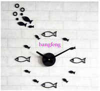 Mechanical Wall Clocks Yes DIYThe Sea Fish Wall Clock Quieten Personalized Clocks Decorated Wall Clocks