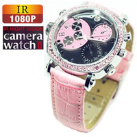 Wholesale 2014 New Full HD Lady Watch Camera MINI DV Hidden Camera with Proofwater and Night Vision function
