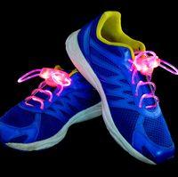 Wholesale 2nd Gen LED light up flash shoelace flashing shoelaces shoe laces OPP package FEDEX UPS