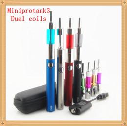 Evod mini protank 3 Daul coils electronic cigarette starter kit e cig cigarette kit mini pro tank 3 cigs cigarettes