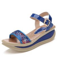 "Women Spool Heel PU Super offer 2014 New women gladiators sandals wedges platform ""women 's shoes Blue Red Purple quality Free shipping"