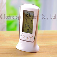 Wholesale Led Electronic Luminous Alarm Clocks Snooze Blue Belt Ray Light Calendar Thermometer Dawdler Alarm Clocks Timer