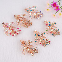 Barrettes & Clips Women's Wedding Women's jewelry hair clips 2014 new Gold-plated alloy + + diamond wedding bride headdress accessories Gift Barrettes charm butterfly model