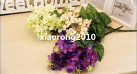 Wholesale HOT cm quot Length White Pink Purple Artificial Silk Flowers Simulation Large Lavender Wedding Home Party Decorations