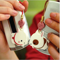 Cheap Free Shipping! Min. Order is 10USD(Can Mixed Order) Fashion lovers love heart rabbit cell phone straps mobile phone chain