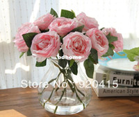 Wholesale 11 quot length WHITE GREEN PURPLE PINK ARTIFICIAL ROSES SILK FLOWERS for bridal wedding bouquets home decoration