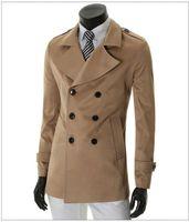 Wholesale 2014 Fashion New men trench coats Korean slim fit upper garments plus size outwear men s clothing mens clothes coat
