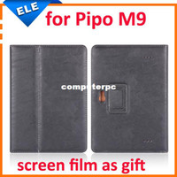 Folding Folio Case 7'' For Apple 10.1 inch Original PU leather Stand cover Case for pipo M9 M9Pro tablet pc screen film as gift