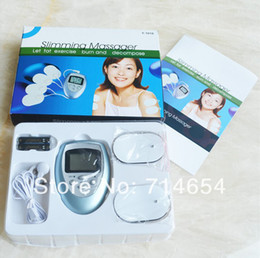 Wholesale 500sets Electric Therapy Slimming Massager Relaxation Pulse massager with User Manual amp Retail box Keep fit body heath product
