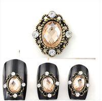 Mix nail art supplies - Alloy drill nail drill phototherapy a crystal a DIY jewelry Japanese bride nail art supplies