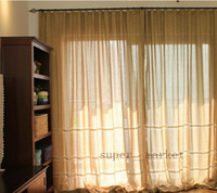 Wholesale Livingroom Bedroom Balcony Curtain French Countryside Thick Linen Fabric Curtains Blinds Artex Fedex