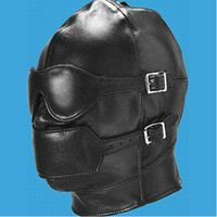 Unisex adult sex mask - Black Hot Sexy Product Soft Leather Bondage Mask Eyepatch Aagged Headgear Adult Sex Toys Bed Game BDSM Games Pleasure Sex Toys