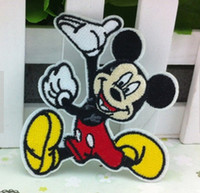 Wholesale 10 Pieces Cartoon Mouse x cm Kids Patch Embroidered Iron on Applique Patch ALC