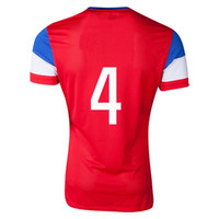 Wholesale World Cup jersey, USA Red Bradley 4 Away Soccer Jer...