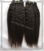 Wholesale All Express Delivery Single Piece Coarse Yaki Hair Can Be Dyed Afro Kinky Straight Burmese Human Hair Weave g One Piece A Hair Extension