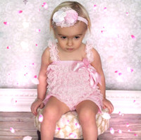 petti romper - Cute Baby Pink Lace Petti Romper with Straps and Bow Girl Lace Ruffle Romper