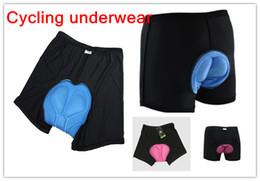 Wholesale bra set New arrival Men Bicycle Cycling Underwear and women Bicycle Cycling Underwear Gel D Padded Bike short Pants Black