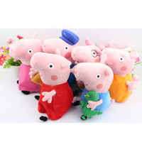 Free Shipping 6pcs set Peppa pig Plush Doll Toy Peppa teddy ...