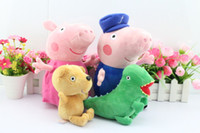 Free shipping 8pcs set 30CM Peppa pig plush Peppa and George...