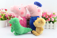 Free shipping EMS 40pcs set 30CM Peppa pig plush Peppa and G...