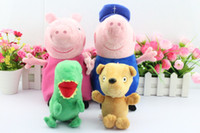 Free shipping EMS 80pcs set 30CM Peppa pig plush Peppa and G...