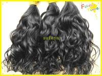Wholesale brazilian human virgin hair weaves unprocessed natural black color queens hair products bundles cheap price for black women